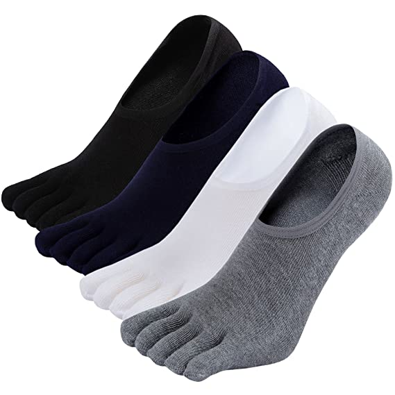 Mens No Show Toe Socks Running Five Finger Cotton Ankle Socks: Amazon.in:  Clothing & Accessories