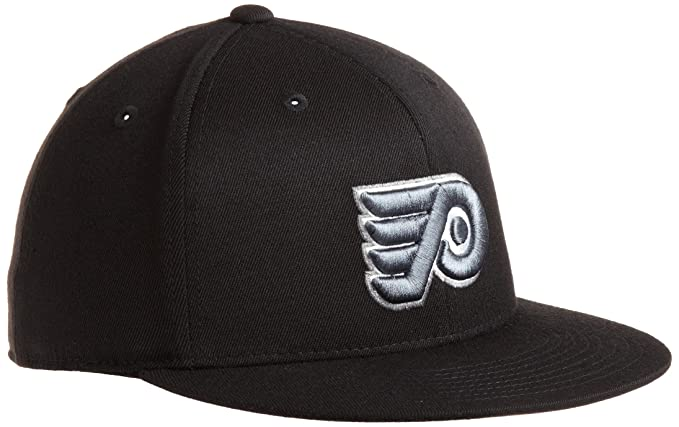 abb4f9d6624 Amazon.com   NHL Philadelphia Flyers Game Day Black Pro Shape Flat Brim  Flex Cap- Tx79Z   Sports Fan Baseball Caps   Clothing