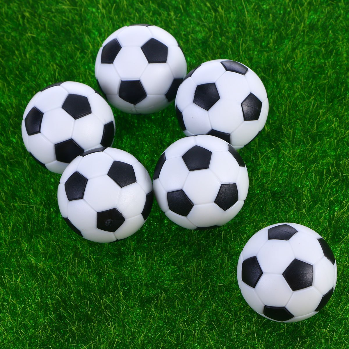 VORCOOL Reemplazos de Foosballs de f/útbol de Mesa Mini Paquete de Pelotas de f/útbol de Color Blanco Negro de 6