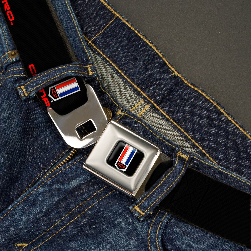 1.0 Wide 20-36 Inches in Length CM-WCM001-1.0 Buckle-Down Seatbelt Belt CAMARO Badge Logo REPEAT