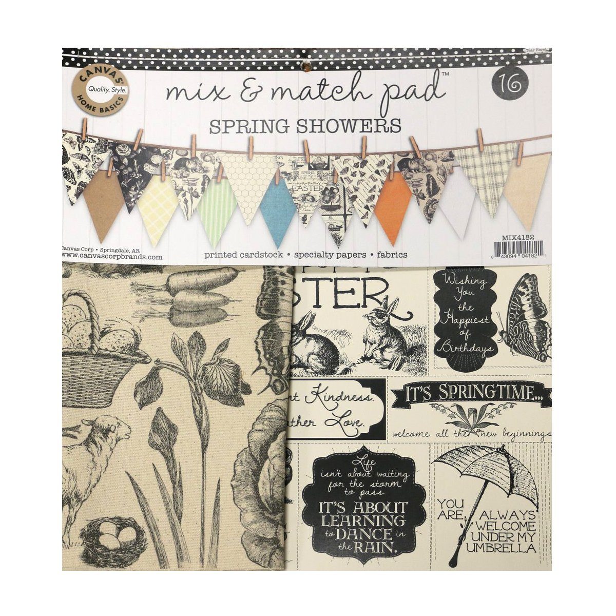 Spring Showers Mix & Match Pad