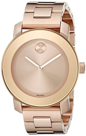 Movado Womens 3600342 Rose Gold Ion-Plated Stainless Steel Watch
