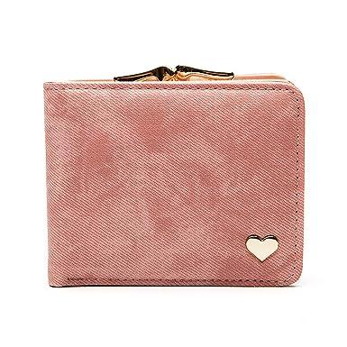 Amazon.com: Herald moda corazón corto portafolios de mujer ...