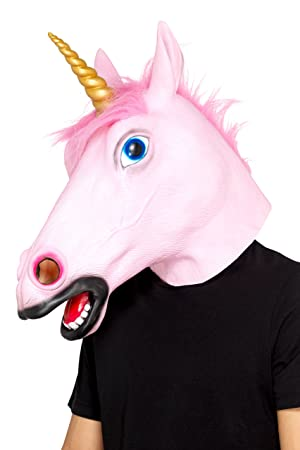 Smiffy s – Máscara de látex de 48874 unicornio, – Maletín, Color Rosa