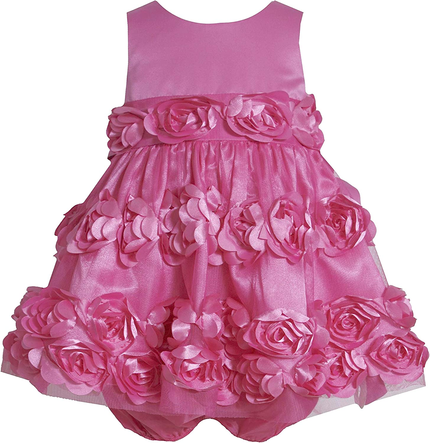New Baby Girls Bonnie Jean Social Gown Dress Bloomers SZ 12 18 24 Months