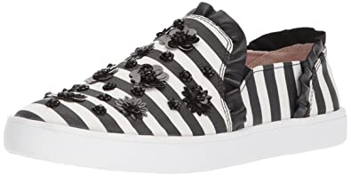 kate spade new york Louise Stripe Floral Embellishment Sneakers Kxs39DCf