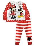 Disney Minnie Mouse - Pigiama a maniche lunghe per ragazze