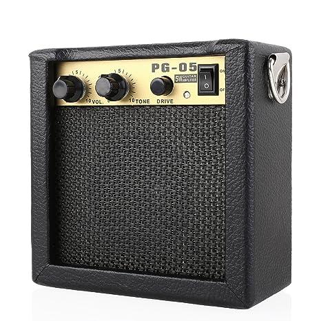 MVPOWER Amplificador para Guitarra Combo de Guitarra Altavoz para Guitarra Amplificador Portátil Mini Combo con Batería