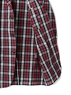 Plaid Cotton Sportcoat 117-07-0037: Red