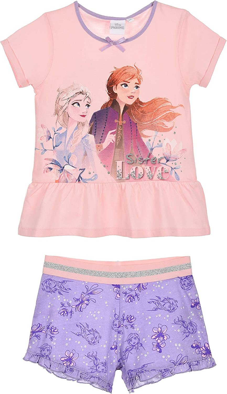 Disney Frozen Girls Short Pajamas