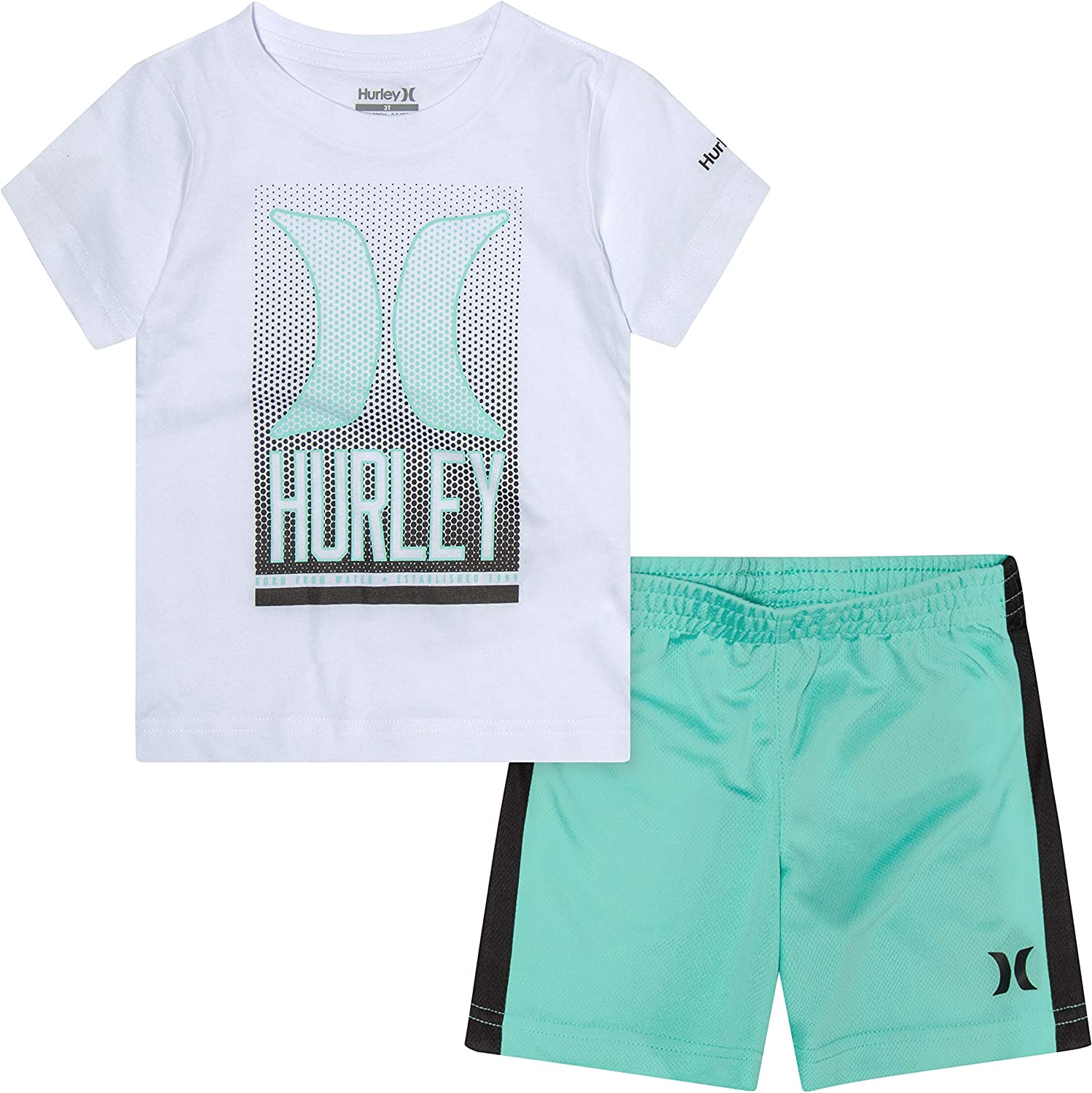 Hurley Baby Boys' Graphic T-Shirt and Shorts 2-Piece Outfit Set