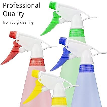 Luigi Fontanería 4 x plástico Gatillo botellas de Spray – de grosor, vacío & Heavy