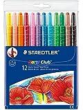 Staedtler 施德楼 德国 12色可旋转蜡笔221 NWP12