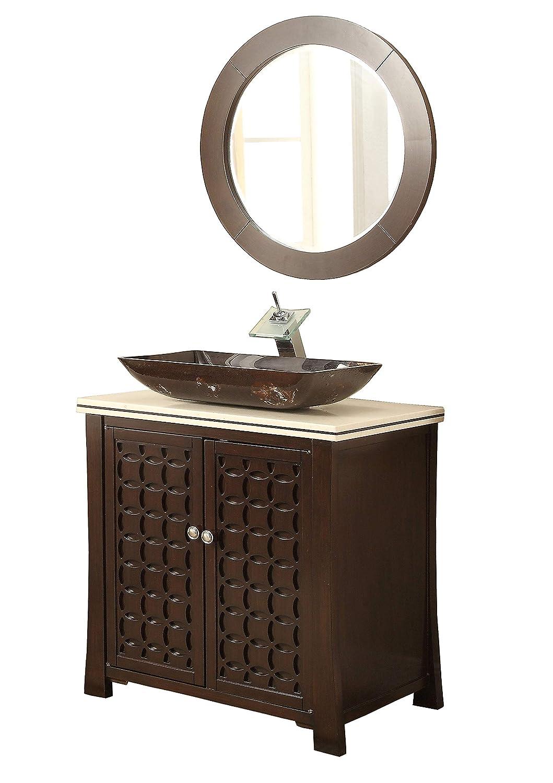 "30"" Giovanni Vessel Sink Bathroom Sink Vanity with ..."