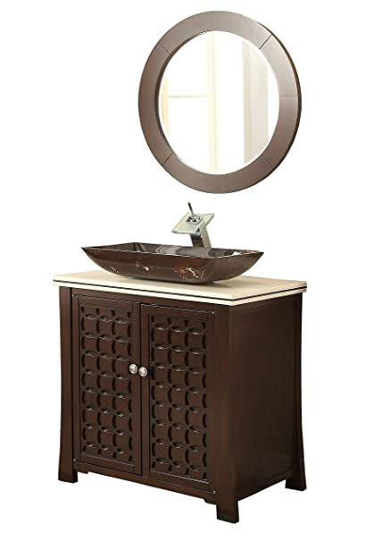 Sensational 30 Giovanni Vessel Sink Vanity Cabinet Model Hf339A With Matching Mirror Interior Design Ideas Helimdqseriescom