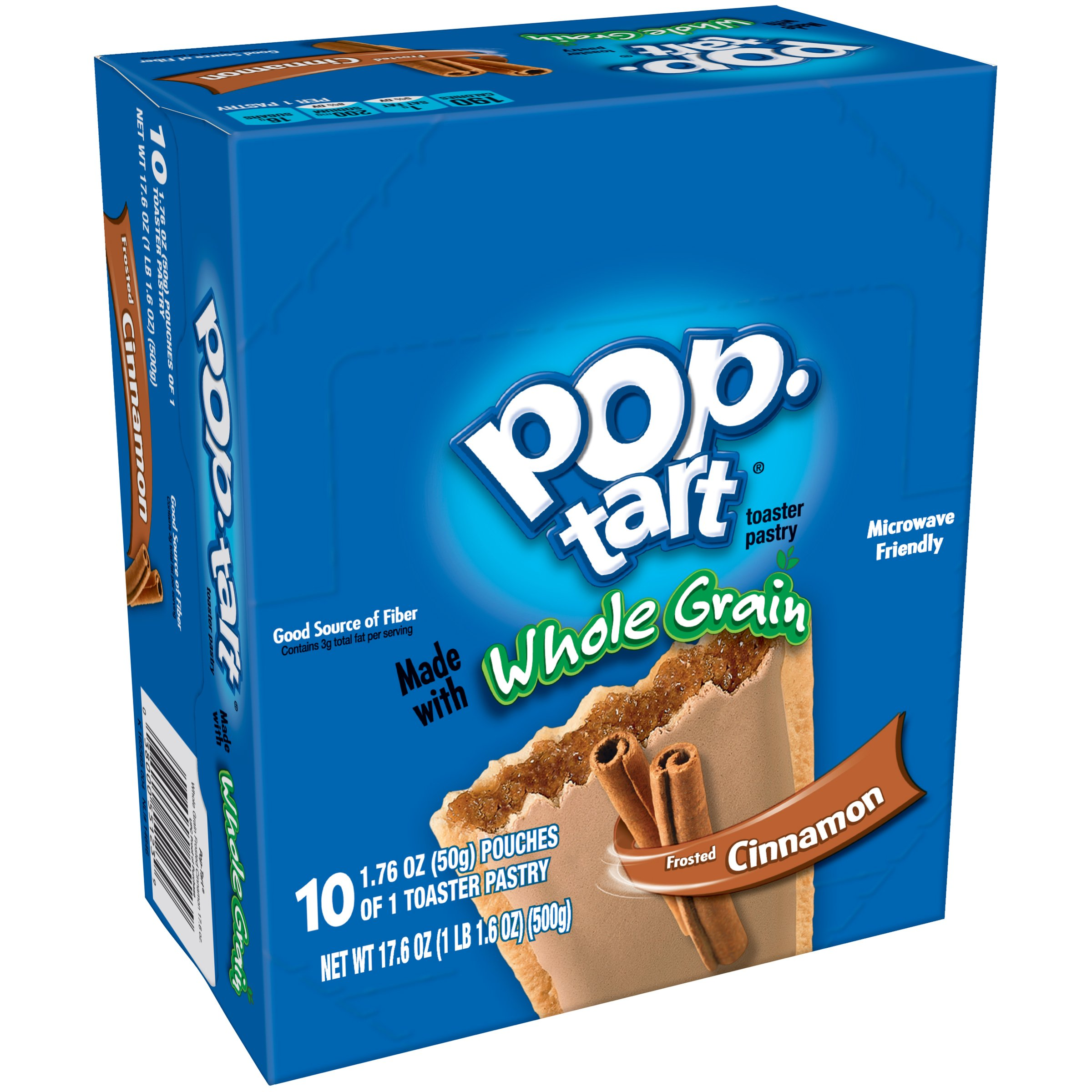 Pop-Tarts BreakfastToaster Pastries, Whole Grain Frosted Brown Sugar Cinnamon Flavored, Bulk Size, 120 Count (Pack of 12, 17.6 oz Boxes) by Pop-Tarts