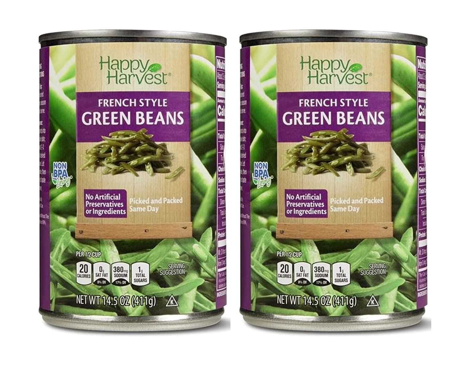 Happy Harvest French Style Fresh Picked Natural No-BPA Canned Green Beans - 2 Can (14.5 oz)