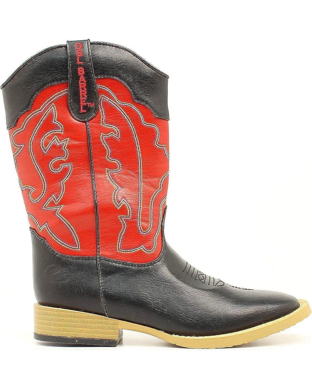M Double Barrel Toddler-Boys Trailboss Side Zipper Cowboy Boot Square Toe Black 9.5 D US
