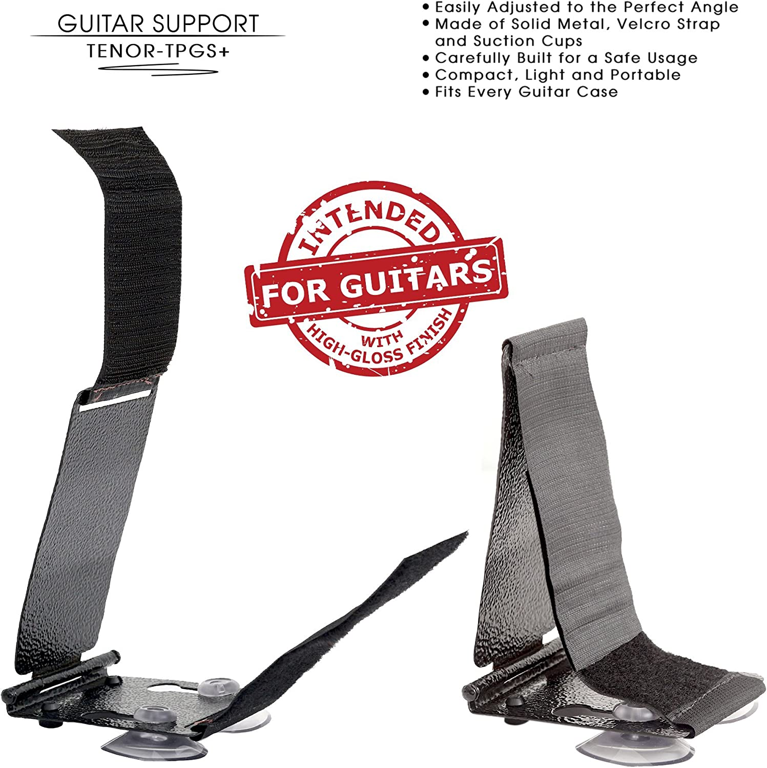 Guitar Lifter Professional Posa Guitar Support for Classical Flamenco Acoustic or Arch Top Guitar Players. TPGS TENOR Professional Ergonomic Guitar Rest Guitar Foot Stools