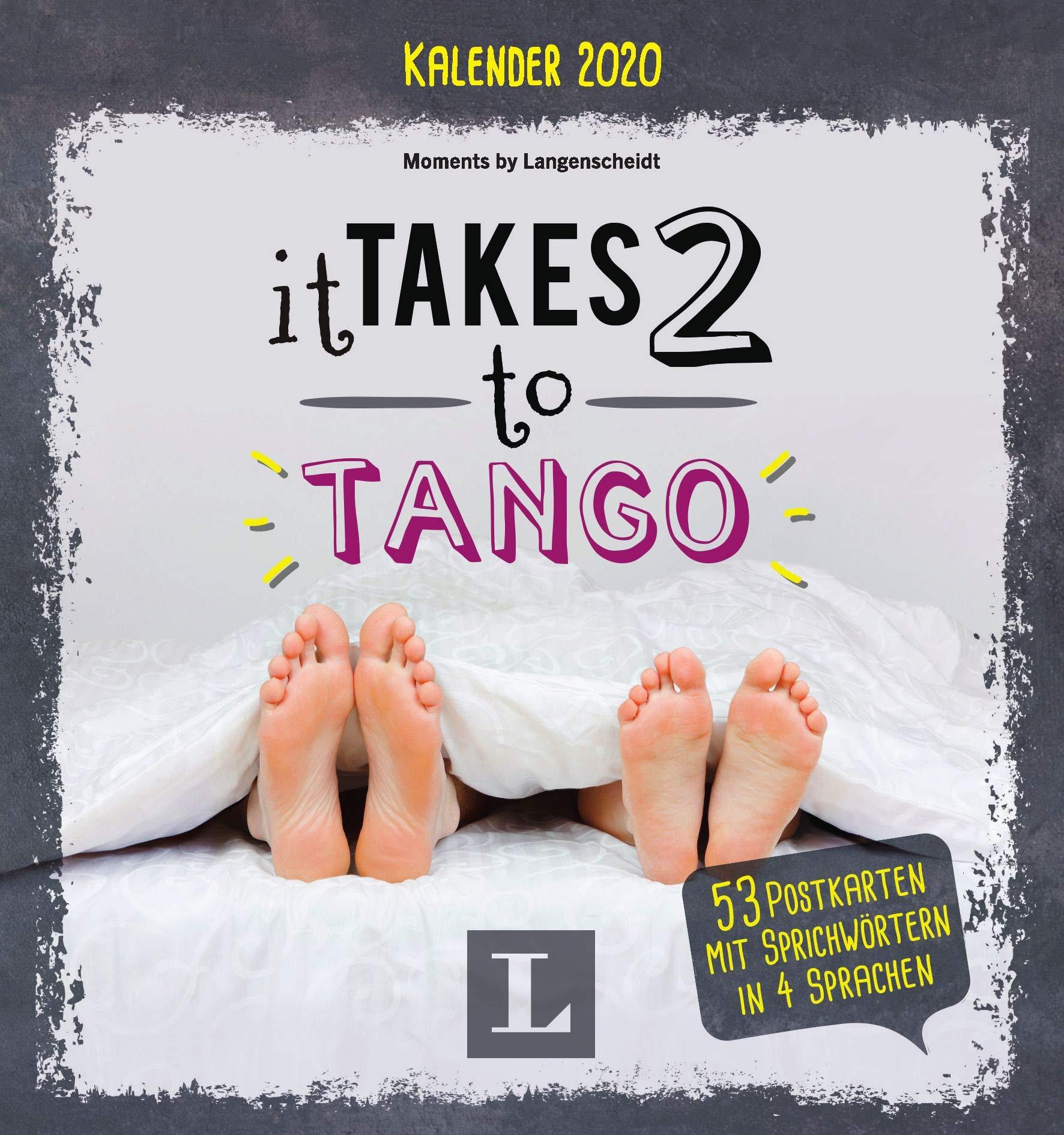 Langenscheidt Kalender 2020 It Takes Two Tango  53 Postkarten Mit Sprichwörtern In 4 Sprachen  Langenscheidet Kalender