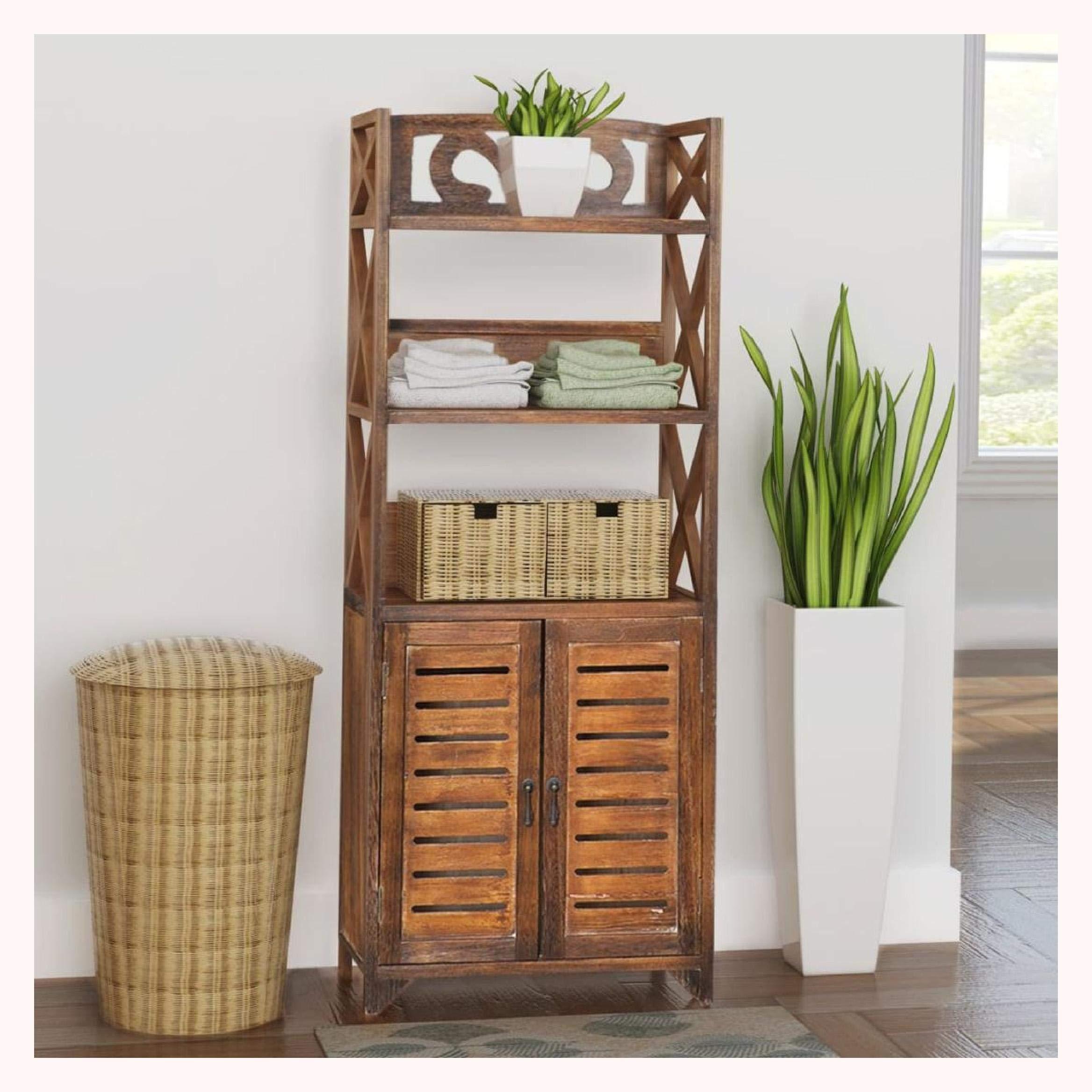 K&A Company Bathroom Cabinet Albuquerque Wood Brown 18''x9.4''x46.3''