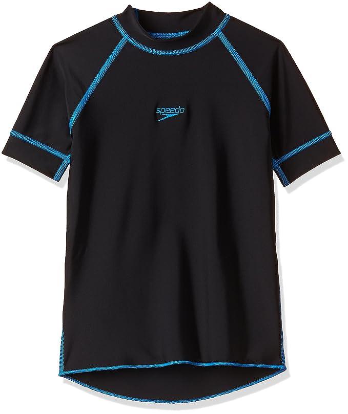 Speedo Boys Swimwear Short Sleeve Suntop Sports Clothing at amazon