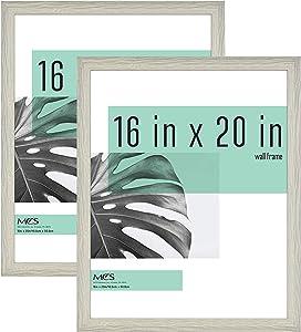 MCS Industries 63798 16x20 Inch 2-Pack, Gray Woodgrain Studio Gallery Frame, 16x20, 2 Count
