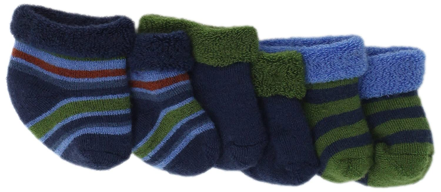 9c2920e7f Amazon.com: Country Kids Baby-boys Newborn Winter Woolies(3-Pair), Surf,  0-3 Months: Infant And Toddler Socks: Clothing
