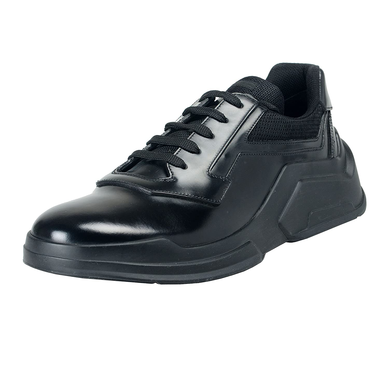 Prada メンズ 革のファッションスニーカーの靴 B07BYX7SJX