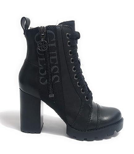 f61c5ee79f497 Guess Bottines en Cuir Remedy Noir  Amazon.fr  Chaussures et Sacs