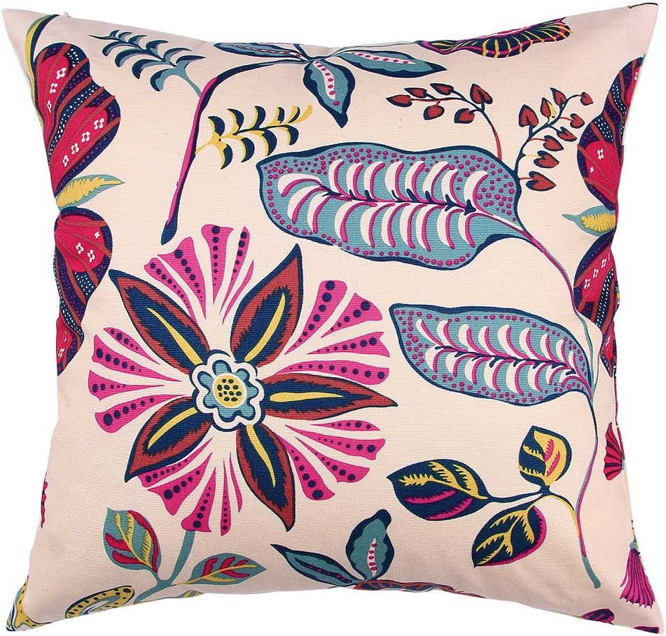 TangDepot 100% Cotton Nature Theme Throw Pillow Covers, Cushion Covers, Pillows Shells, 10 Sizes Option - (18
