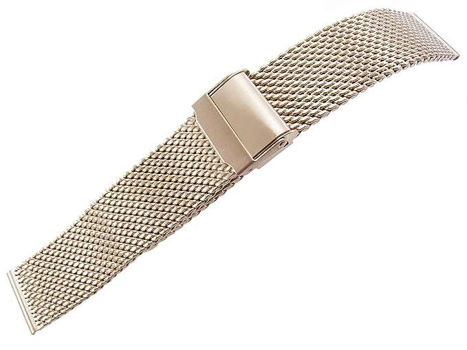 20 mm Reloj Pulsera Correa de Reloj Acero Inoxidable Plata ...