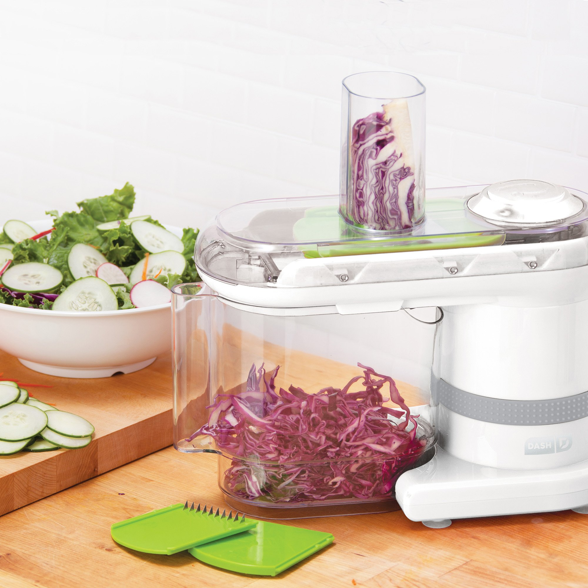 Dash Electric Mandoline & Food Slicer, White by DASH