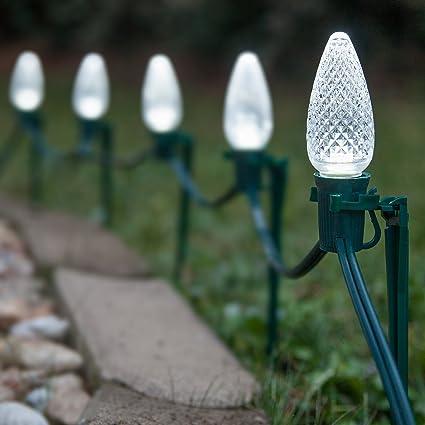 Amazon.com : Set of 100 LED Christmas Pathway Lights - Path ...