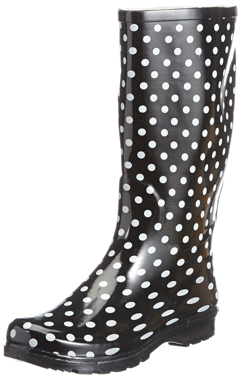Playshoes - Zapatos de caucho para mujer Negro