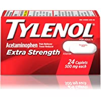 24-Count Tylenol Extra Strength Caplets with 500 mg Acetaminophen, Pain Reliever & Fever Reducer