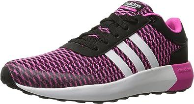 adidas neo donne s cloudfoam corsa w nero / bianco / shock scarpe da corsa