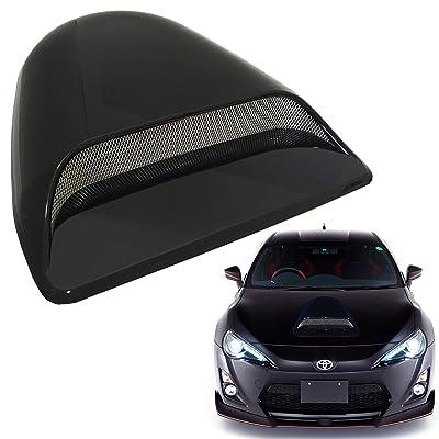 Mega Racer Universal Decorative Paintable Hood Scoop Smoke Black Sport Racing Air Flow Intake Vent Cover Nismo Style Auto: Automotive