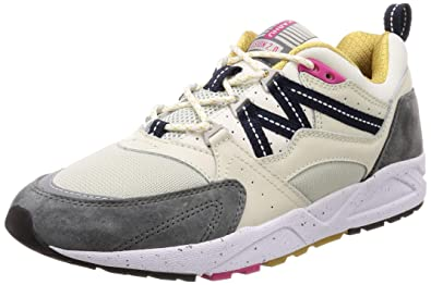c2f94ac3a81be Karhu Men's Fusion 2.0 White Leather and Nylon Sneaker and Grey Suede.