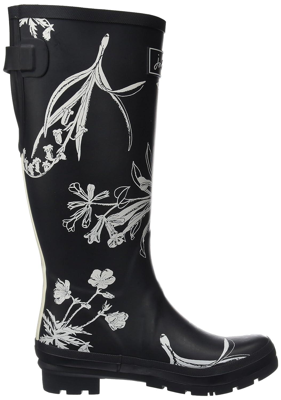 Joules Women's Wellyprint Rain Boot B073XJCQVM 7 B(M) US Black Botanical