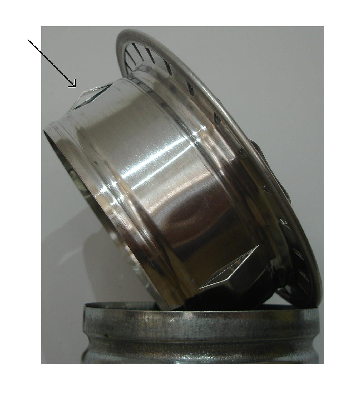 Tapa de rejilla de ventilación de aluminio circular Ø 120 mm, Rejilla de aluminio circular Ø 12 cm (120 mm), rejilla de ventilación de aluminio circular ...
