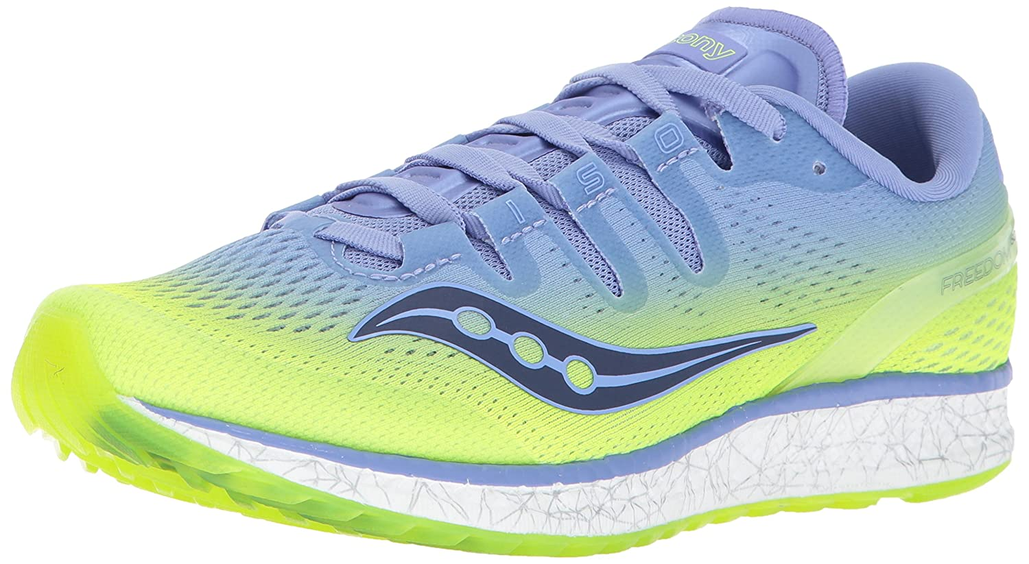 Saucony Women's Freedom ISO Running Shoe B01N9KB31H 9.5 B(M) US|Citron Purple