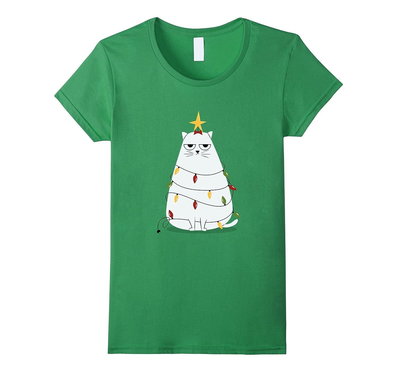 Annoyed Funny Christmas Cat Shirt for Xmas Day-Awarplus