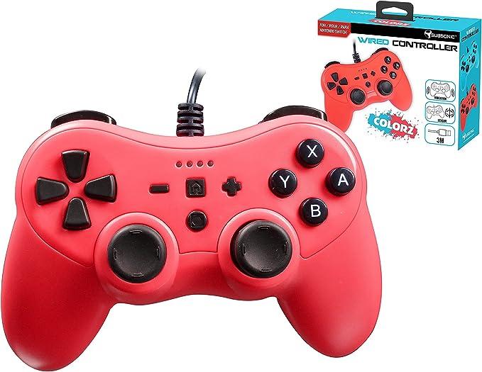 Mando controller para Nintendo Switch, con cable, Rojo: Amazon.es: Videojuegos