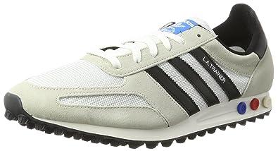 best service 490b4 1d686 adidas Men s s La Trainer Og Gymnastics Shoes Off Vintage White S15-st core  Black