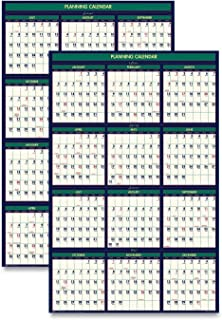 product image for House of Doolittle 2021-2022 Four Seasons Wall Calendar, Reversible, 24 x 37 Inches, January - June (HOD390-21)