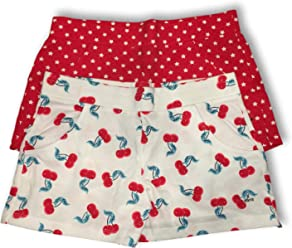 c7ec34953539 BASIC EDITIONS. Girls Patriotic Shorts - Set of 2 Red White & Blue - Stars,  Hearts &