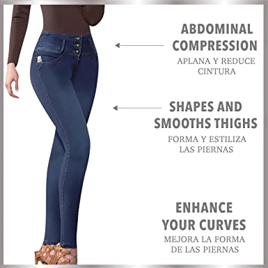 Aranza High Waist Skinny Butt Lifting Jeans Colombian Stretch Jeans for Women at Amazon Womens Jeans store
