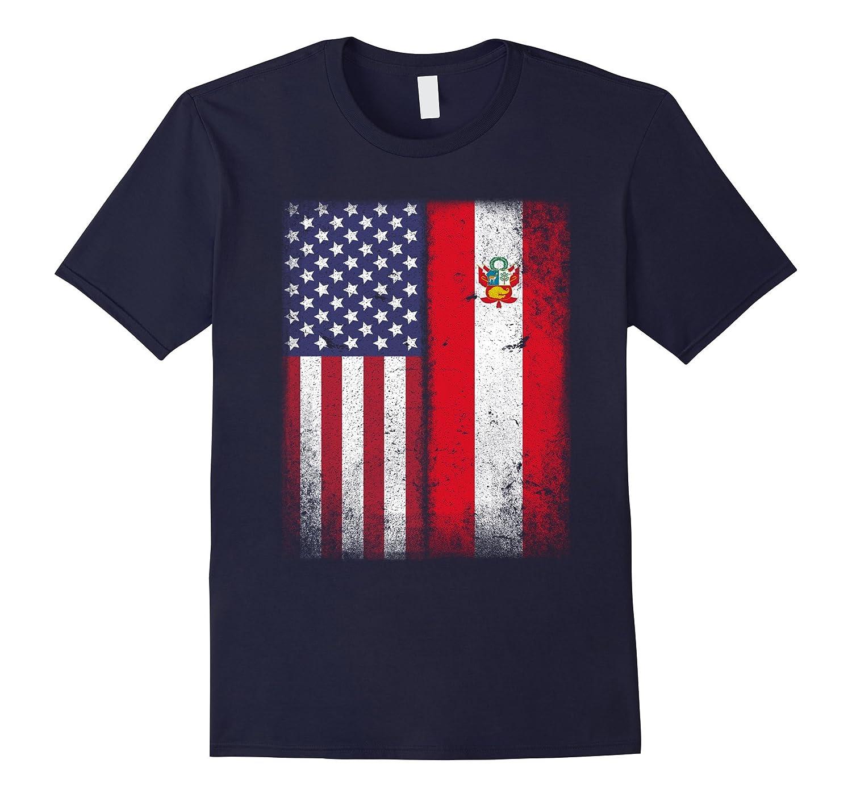 American Peruvian Flag T-shirt Peru Pride Heritage Tee-Vaci