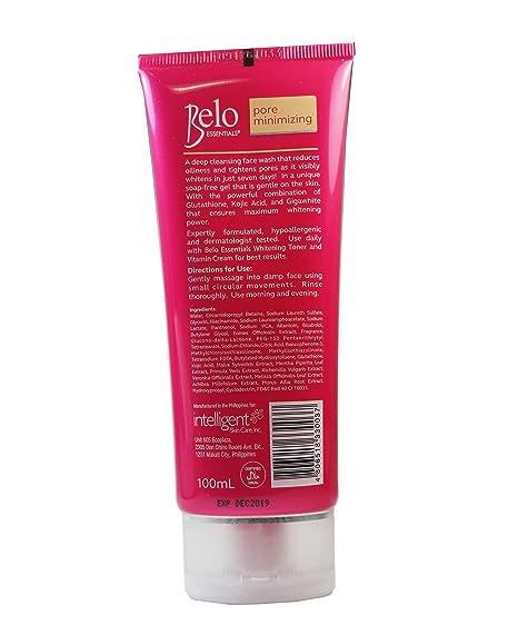Amazon Com Belo Essentials Pore Minimizing Face Wash 100ml Beauty